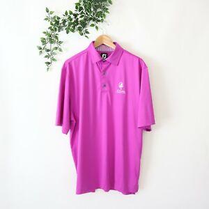 FootJoy Men's Short Sleeve Collared Golf Polo Shirt M Medium Purple