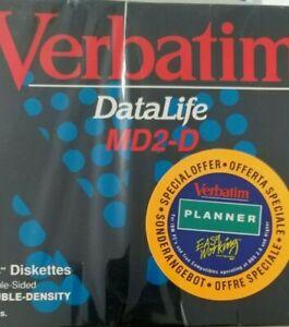 "10 x VERBATIM DATALIFE MD2-D 48 tpi 5.25"" Zoll Leerdisketten (C64 Commodore) NEU"