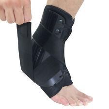 1 Pr Foot Ankle Achilles Sprains Lace Up Support Brace Strap Tendon Stabilizer
