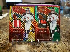 🔥JAMEIS WINSTON RARE SELECT PATCH LOT GREEN /5 & GOLD /10 TAMPA BAY BUCCANEERS