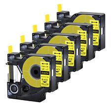 5pk For Dymo Rhino 42005200 Heat Shrink Tube 18054 Industry Label Tape 38x5