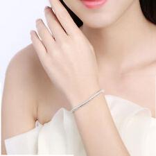 Luxury Bracelet White Flate Adjustable Silver Plated Snake Bone Chain For Women