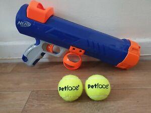 Nerf Pet Dog Tennis Ball Blaster Gun 50ft Launcher Thrower Fetch Toy 10.99p