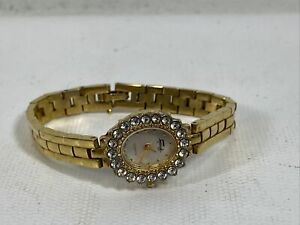 Faberge Womens LXF578 Quartz Stainless Steel Back Watch Gold Tone