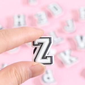 1Pcs Shoe Charms 26-Letter Shoe Decoration for Kids Croc Charms Metal Button FT