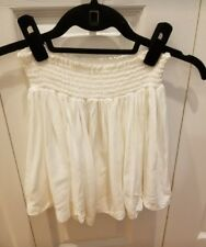 H&M Mini White FLOUNCY BEACH Skirt Size 2