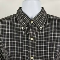 Ralph Lauren Blake Mens Black Check Plaid Dress Button Shirt Sz Large L