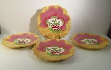 SET OF 4 HANDPAINTED SALAD PLATES - TRACY PORTER - THE LEMON CHIFFON COLLECTION