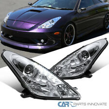 For 00-05 Toyota Celica Clear LED DRL Projector Headlights Head Lamps Left+Right