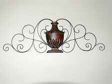 Classical ANTIQUE STYLE french  WALL DECOR  WROUGHT IRON vase new