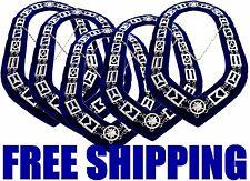5 Masonic Regalia Master Mason SILVER Chain Collar BLUE Backing DMR400SB 01