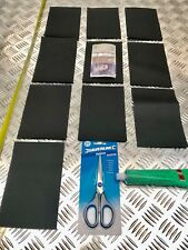 HEAVY DUTY WATERPROOF CAR TRAILER COVER REPAIR KIT  10 PATCHES SCISSORS GLUE