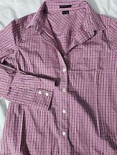 d93cef1a4a005 Theory Nikala Collared Shirt Gingham Print SIze P 100% Cotton