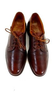 BROOKS BROTHERS ENGLISH MENS BROWN LEATHER LACE UP OXFORDS SIZE 8.5 B