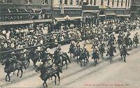 LOS ANGELES CA – Fiesta De Los Flores Parade Horseback Riders - 1907