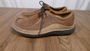 Merrell Oracle Peat Moss Men's 10.5 Brown Leather Lace Up Casual Oxford Shoes