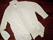 LUCKY Lotus Brand soft Beige drapey open front Cardigan size 1X  retail $99