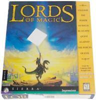 LORDS OF MAGIC 90s Big Box PC VIDEO GAME Win 95 CD-Rom 1997 Sierra CIB ! Fantasy
