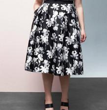 New PRABAL GURUNG for LANE BRYANT $129 B & W Floral Circle Skirt Plus Size 28W
