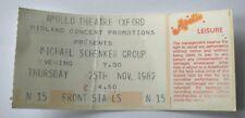 MSG MICHAEL SCHENKER GROUP Concert Ticket Stub 1982 Apollo Theatre Oxford OG
