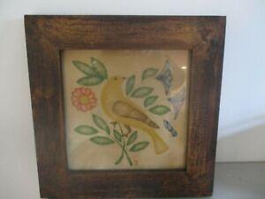 Vintage Theorem Painting/framed/bird/flower