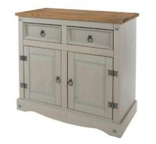 Premium Corona Grey Washed Pine Small Sideboard Solid Wood Mexican Style