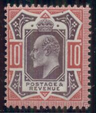 Great Britain #137 10p carmine & dull purple hinged Scott $100.00