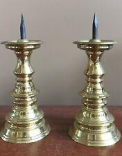 Virginia Metalcrafters Williamsburg Spike Pricket Candlesticks Cw 16-33 - 7.5�