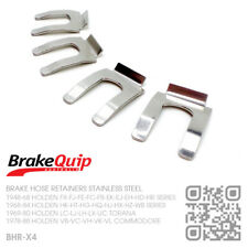 BRAKE HOSE CLIPS STAINLESS STEEL X4 [HOLDEN VB-VK-VL-VN-VT-VY-VZ-VF COMMODORE]