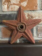 Antique Cast Iron Building Anchor Star