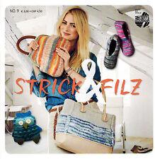 Strick & Filz Nr. 9 Lana Grossa Strickanleitungen Damen Taschen Schuhe Kissen