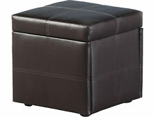 Faux Leather Modern Ottomans & Footstools