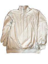 Gander Mountain Windbreaker Beige Jacket Mens Large Pullover 1/4 ZIP R