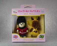 Sylvanian Families Japan 25th Anniversary Costume Pair - Britain & Brazil Rare