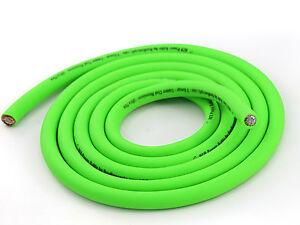 KnuKonceptz KCA NEON Kandy GREEN True AWG 1/0 Gauge Power / Ground Wire 20Ft AWG