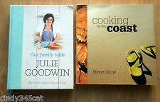 Julie Goodwin Our Family Table + Cooking on the Coast Steven Snow Signed 2 BOOKS