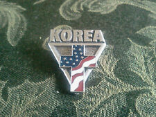 1 U.S.A. KOREA SOIDIER PEWTER PIN WITH FLAG All New.