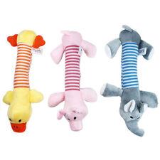"3 PCs Pet Dog Pull Chew Squeaker Stuffed Toys 11"" Cute Plush Pig Duck & Elephant"