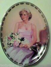 """Royalty Lady Diana Picture Collector Plate """"Princess of Compassion"""" With COA"""