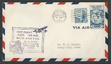 1933 First Flight Of Air Mail Route AM34-Elk City Oklahoma-Nice Cover