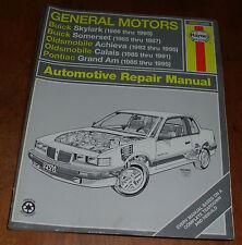 HAYNES GENERAL MOTORS N-CARS AUTOMOTIVE REPAIR MANUAL #38025 GM (1985-1995) nice