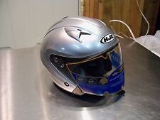 Neuf HJC IS-33 One Touch Pare Soleil Unisexe Casque TAILLE S Argent