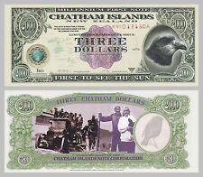 Chatham-Inseln / Chatham Islands 3 Dollars 1999 Polymer unc