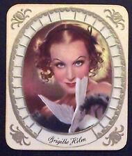 Brigitte Helm 1934 Garbaty Film Star Series 2 Embossed Cigarette Card #42