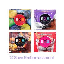 72 EXS MIXED FLAVOUR Condoms - Bubblegum Chocolate Cola & Strawberry Sundae mix