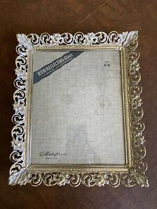 """Vintage Ornate Gold Metal Filigree Metalcraft Picture Frame 8""""x10"""" No. 585"""