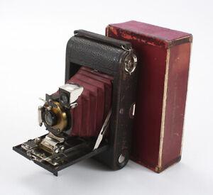 KODAK NO. 3 FOLDING POCKET MODEL C4, BURGUNDY BELLOWS, BOXED/cks/196427