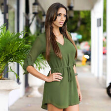 Women's Ladies Summer Loose Chiffon Tops Long Sleeve Shirt Casual Blouse L