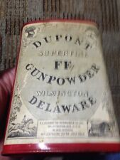 Dupont Gunpowder Can Superfine Ff 1924 Wilmington Delaware Tin Can