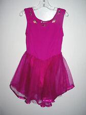 Girls Gymnastics-Dance-Tumbling-Ice Skating Skate Costume-Net Skirt-Dress-M-8-10